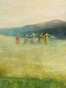 Spring by Thomas Wilmer Dewing